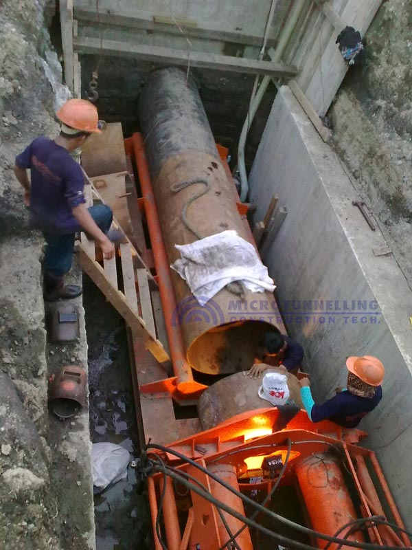 Pipe Jacking of Steel Pipe for Drainage System, Rosario, Cavite